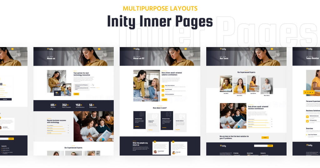 Inity – IT Solutions and Technology WordPress Theme for consultancy