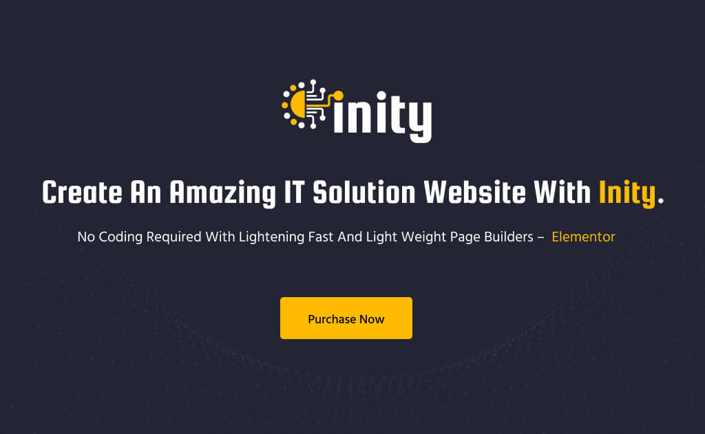 Inity – IT Solutions and Technology WordPress Theme-01