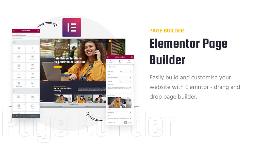 Inity – IT Solutions and Technology WordPress Theme with elementor