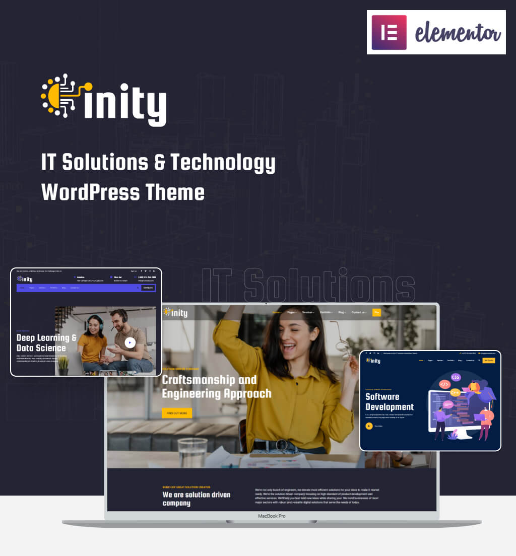 Inity – Best IT Solutions and Technology WordPress Theme